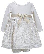 Bonnie Baby Baby-Girls Newborn Knit To Eyelash Tiered Skirt, Gold, 3-6 Months image 2