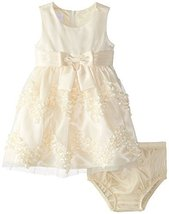 Bonnie Baby Baby Girls' Chevron Bonaz Dress, Yellow, 24 Months [Apparel] image 1