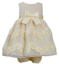 Baby Girls Infant Yellow Chevron Bonaz Dress, YL1HB, Yellow, Bonnie Jean, BBNI