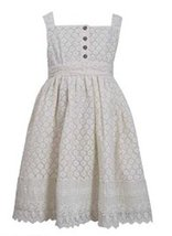 Bonnie Jean Girls Ivory Crotchet Lace Dress (6X) [Apparel]
