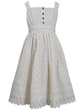 Big-Girls TWEEN 7-16 Ivory Button Lace Overlay Dress, 7, Ivory, Bonnie Jean, ...