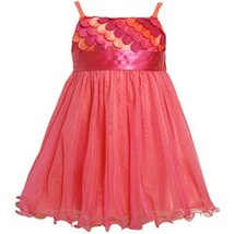 Size-2T BNJ-4336B FUCHSIA-PINK SCALLOP DIE CUT MESH OVERLAY Special Occasion ... - $43.66