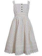 Big-Girls TWEEN 7-16 Ivory Button Lace Overlay Dress, 8, Ivory, Bonnie Jean, ...