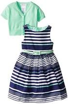 Bonnie Jean Little Girls' Gradient Stripe with Sweater Dress, Mint, 6x [Apparel] image 1