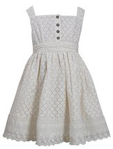 Little-Girls 2T-6X Ivory Button Lace Overlay Dress, 3T, Ivory, Bonnie Jean, T...
