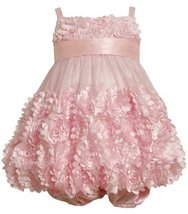 Size-12M, Pink, BNJ-7780R 2-Piece Fluter-Die-Cut Flower Border Mesh Bubble Dr...