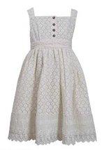 Bonnie Jean Girls Ivory Crotchet Lace Dress (6) [Apparel] image 1
