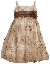 Bonnie Jean Little Girls' Sequin Bubble Dress, Pink, 4 [Apparel]