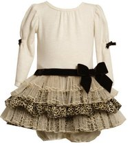 Bonnie Baby-girls Infant Knit Bodice To Leopard and Sparkle Tulle Skirt (3-6 ... image 2