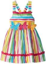 Bonnie Jean Little Girls' Multi Stripe Butterfly Applique Dress, Fuchsia, 4T ...