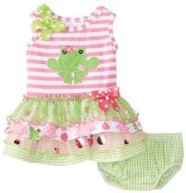 Bonnie Baby Baby-Girls Newborn Multi Tiered Dropwaist, Pink, 3-6 Months