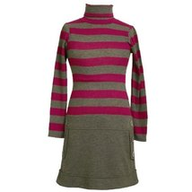 Size-6X BNJ-3697B GRAY FUCHSIA STRIPE RIB KNIT BUTTON TAB DROP WAIST Girl Par...