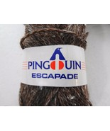 Pinguin Escapade Wool Linen Brown Yarn 1 Skein 1.75oz 50g NEW 807910 - $12.25