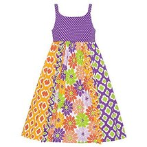 Bonnie Jean Little Girls' Dot To Mixed Print Sundress, Purple, 6 [Apparel] Bo...