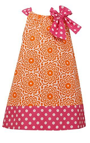 Tween Big Girls Funnel Neck Poplin, Bonnie Jean, Orange, 8 [Apparel]