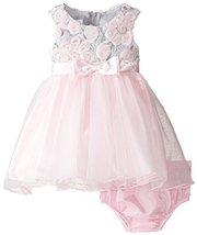 Bonnie Baby Baby Girls' Bonaz Lace Hi Low Dress (3-6 Months, Pink) [Apparel] image 2