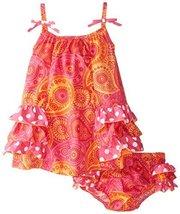 Bonnie Baby Baby Girls' Side Ruffle Tiered Sundress, Fuchsia, 18 Months