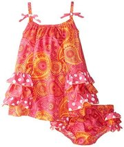 Bonnie Baby Baby Girls' Side Ruffle Tiered Sundress, Fuchsia, 24 Months