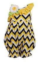 Baby-Girls Infant Yellow Chevron Stripe Asymmetric Romper (24 Months, Yellow) - $28.61