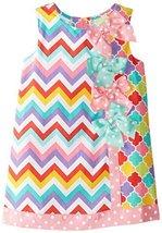 Bonnie Jean Little Girls' Color Block Float, Pink, 4T [Apparel] Bonnie Jean