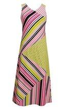 Big-Girls Tween Lime-Green/Multi Geometric Stripe Crossover Knit Maxi Dress, ...