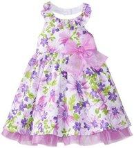 Bonnie Jean Little Girls' Glitter Poplin Halter, Lavender, 2T [Apparel] image 1