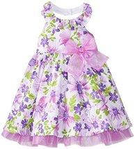 Bonnie Jean Little Girls' Glitter Poplin Halter, Lavender, 2T [Apparel] image 2