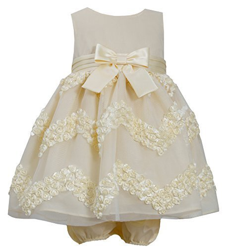Baby-Girls Newborn Yellow Chevron Bonaz Dress (3-6 Months, Yellow) [Apparel]