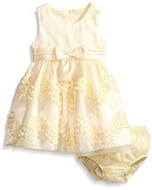 Bonnie Baby Baby Girls' Chevron Bonaz Dress, Yellow, 12 Months [Apparel] image 2