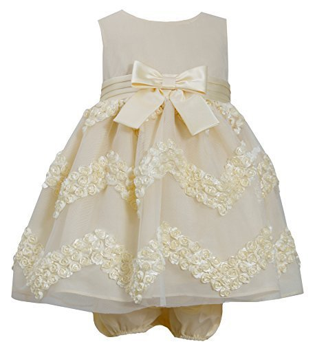 Baby Girls Infant Yellow Chevron Bonaz Dress, YL1MH, Yellow, Bonnie Jean, BBNI
