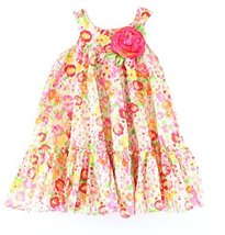 Bonnie Jean Flowered Easter Dress with Hat Size 4 5 6 6X (6X) [Apparel] Bonni... image 2