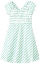 Bonnie Jean Little Girls' Stripe Knit Dress, Aqua, 6 [Apparel]