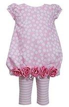 Baby Girls Infant Burnout Dot Rolled Rosette Border Bubble Dress/Legging Set,...