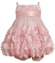Size-18M, Pink, BNJ-7780R 2-Piece Fluter-Die-Cut Flower Border Mesh Bubble Dr...
