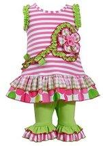 Little-Girls 2T-6X Flower Stem Knit to Mix Print Tier Dress/Legging Set, 3T, ...