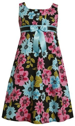 Size-12.5 BNJ-3562M BLACK PINK BLUE BOLD FLORAL PRINT BOW FRONT Special Occas...