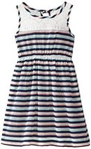 Bonnie Jean Little Girls' Novelty Stripe Knit Dress, Navy, 6 [Apparel]