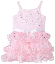 Bonnie Jean Little Girls' Dot Chiffon Tier Dress (4T) [Apparel] image 2