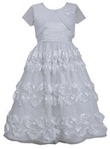Big-Girls Tween 7-16 Bonaz Border Flower Girl Communion Dress/Coat Set, Bonni...