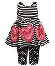 Size-2T, Black/White, BNJ-2397M, 2-Piece Black/White Stripes and Dots Bonaz H...