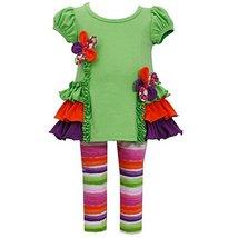 Bonnie Jean Baby Girls 3M-24M Floral Ruffle Legging Set (18 Months, Green)