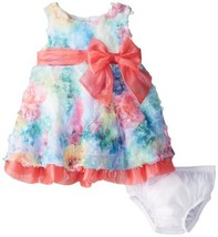 Bonnie Baby Baby-Girls Newborn Printed Bonaz Dress, Fuchsia, 3-6 Months