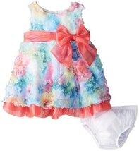 Bonnie Baby Baby-Girls 3M-24M Printed Bonaz Dress (3-6 Months, Fuchsia)