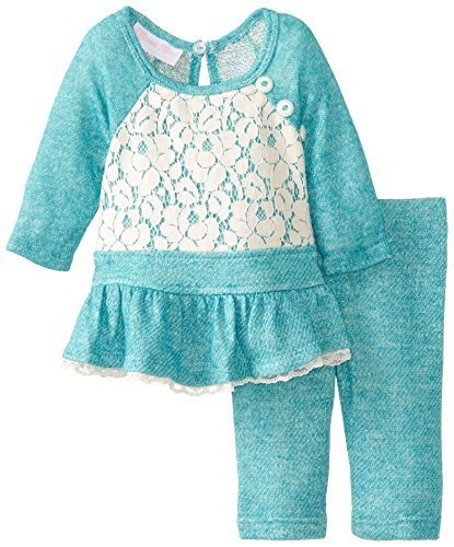 Baby Girls Infant 12M-24M Raglan Terry Knit Legging Set, Bonnie Baby (12 Mont...