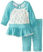 Baby Girls Infant 12M-24M Raglan Terry Knit Legging Set, Bonnie Baby (12 Mont...