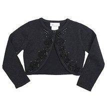Bonnie Jean Little Girls 2T-6X Beaded Bonaz Rosette Metallic Knit Sweater (2T...