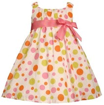 Bonnie Jean Girls 2T-6X Multi Bubble Dot Babydoll Clip Dot Dress (4T, Dot)