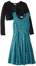 Bonnie Jean Little Girls' 4-6X Jacquard Fit and Flare Dress with Cardigan Set... image 2