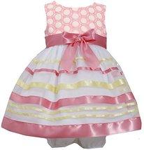 Baby-Girls Newborn 3M-9M Embroidered Ribbon Organza Overlay Dress (3-6 Months...
