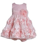 Baby Girls Infant 3M-24M Coral Flutter Bonaz Rosette Mesh Overlay Dress (18 M... - $36.53
